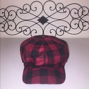 Accessories - Buffalo Check Plaid Newsboy Hat
