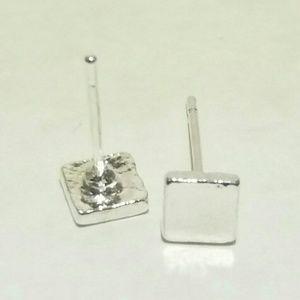 Silver Small Square Studs