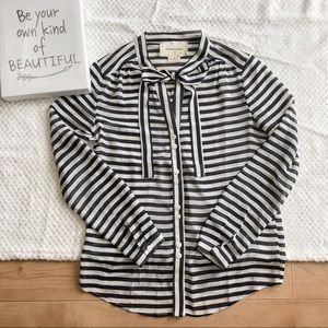 Coincidence & Chance Navy/Cream Striped Blouse S
