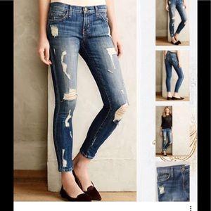 Current/Elliot  Shredded Stiletto Ripped jeans