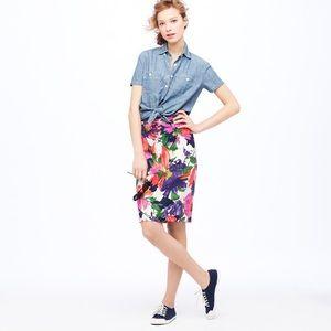 J. Crew No. 2 Pencil Skirt in Garden Floral