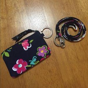 Vera Bradley Zip ID Case & Lanyard Ribbons