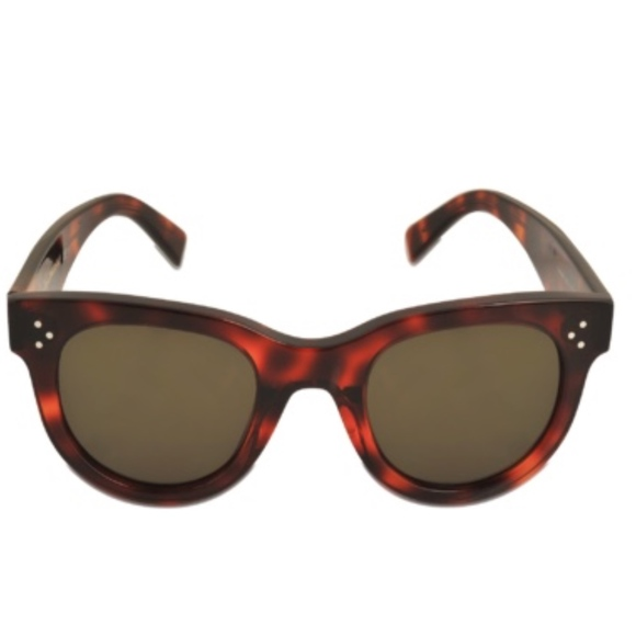 3315f96a907 Celine Accessories - Celine Tortoise Shell Baby Audrey Round Sunglasses