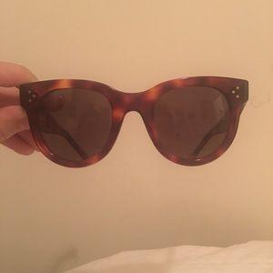 Celine Tortoise Shell Round Sunglasses