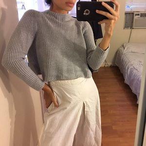 Vintage Mock Neck Cropped Sweater