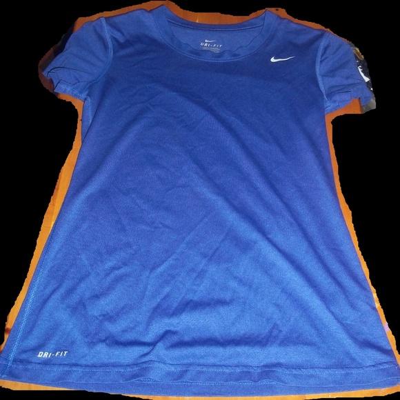ef83bc0d5 Nike Tops   Xs Blue Drifit Womens Athletic Tshirt   Poshmark