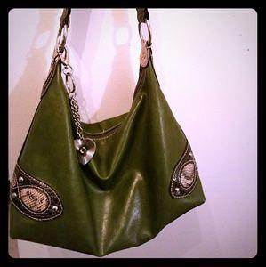 Nine West Olive Green Shoulder Handbag/Purse