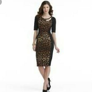 Women's panel  animal print dress