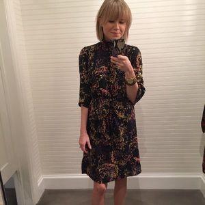 H&m black floral dress with higher neck size 2