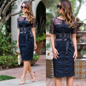 Anthropologie Byron Lars Navy Carissima Sheath