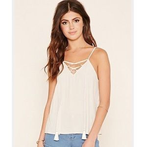 Forever 2 1 • Lace Up Cami Tank Top