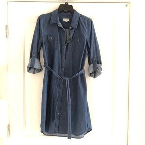 Maison Jules Denim/Chambray Shirt Dress