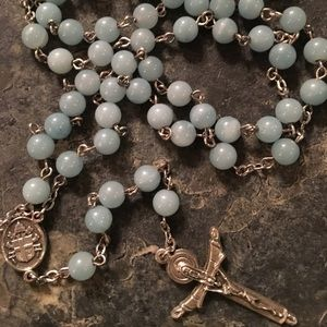 Light Blue Beads Rosary