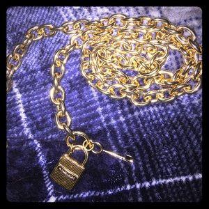 "40"" Micheal Kors Gold tone chain link belt"