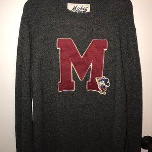 Mickey Mouse sweatshirt.