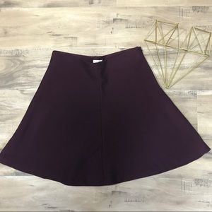 Plum Purple Skater Full Circle Fall Skirt Medium