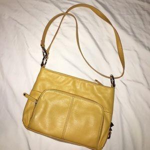 Tignanello mustard crossbody bag