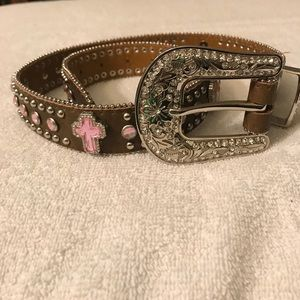 Nocoma embellished brown leather belt