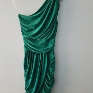 Cute Emerald Ruched Party Dress