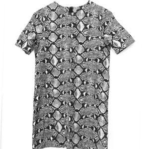 ZAra snake skin shirt dress tunic
