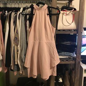 Poppy layered Blush Dress