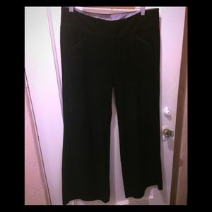 Black Felted Slacks with seam detail Sz 12