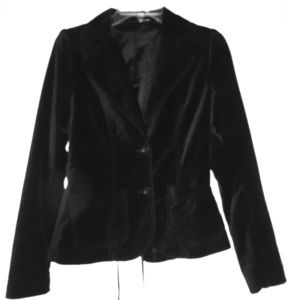 Jackets & Blazers - Velvet Blazer with corset lace up detail