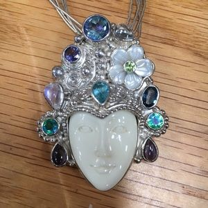Shane Offerings pendant w multistrand chain