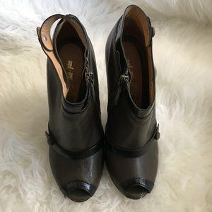 L.A.M.B Leather Dark Brown Heels