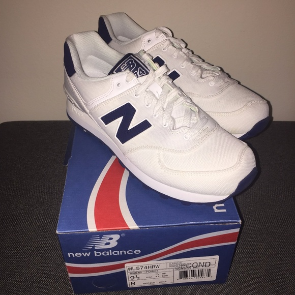 info for 98ee4 804e8 New Balance Classics WL574 Sneakers White/Navy 9.5 NWT