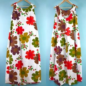 1960s Hawaiian flower power muu my maxi dress 🌼🌸