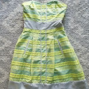 Plenty By Tracy Reese Lime and Lavender Dress