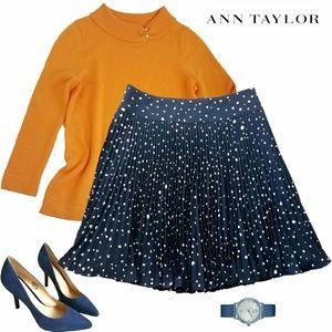 Ann Taylor Polka dot pleated skirt