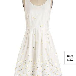 white daisy modcloth  dress