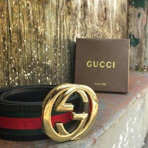 Other - Dope gold red n black fashion belt