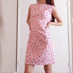 Vintage Victoria Holley pink floral dress.