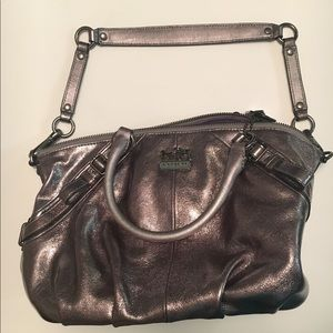 COACH METALLIC Leather MADISON SOPHIA Satchel Bag