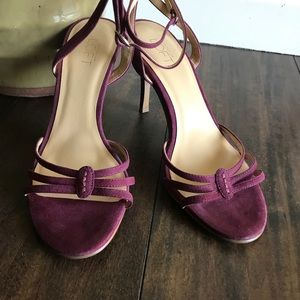Ann Taylor Loft Suede Leather Strappy Sandals