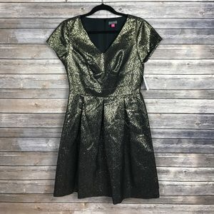 Brand New W Tags Gold Black Vince Camuto Dress 6