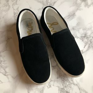 🖤SAM EDLM SLIP ON LEATHER SUEDE SNEAKERS 🖤