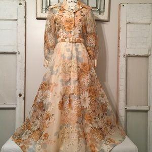 Vintage 70s Floral Dress