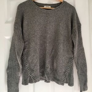 Gray Madewell sweater with side slits