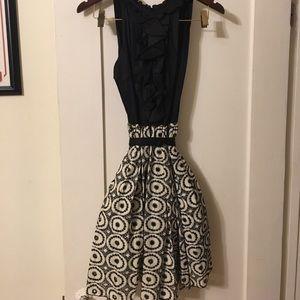 Anthropologie black and white dress