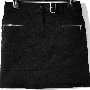 Ann Taylor LOFT Black Belted Skirt Size 4