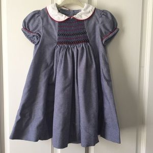 Luli & Me check dress, 12M