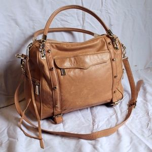 Rebecca Minkoff Cupid Satchel Peach Tan Leather