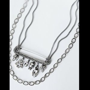 Free People Tova Crystal Chain Charm Necklace