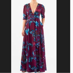 New Eshakti Floral Fit & Flare Maxi Dress 30W