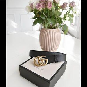 Authentic Gucci Marmont Double G Belt