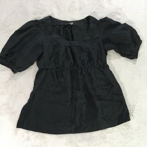 Banana Republic black blouse - cute sleeves-small